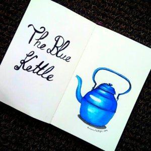 blue kettle